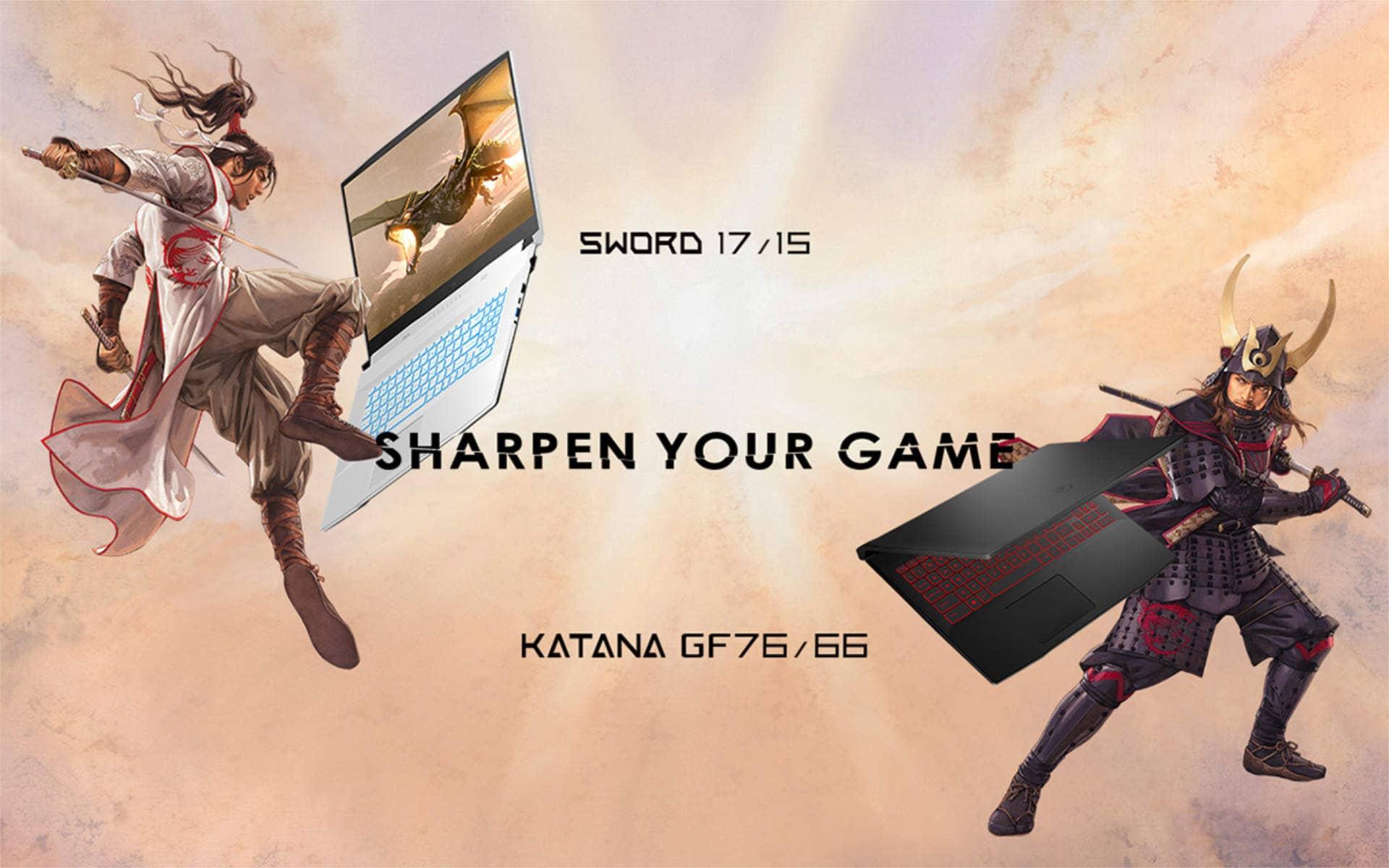 Игровые ноутбуки MSI Katana и Sword разработаны Цуёси Нагано из Three Kingdoms