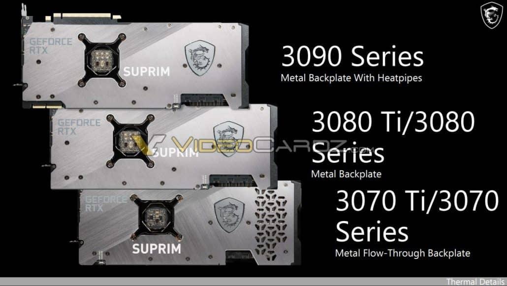 MSI GeForce RTX 3080 Ti 12 ГБ и RTX 3070 Ti 8 ГБ графические процессоры серии 'SUPRIM', которые появятся в июне?
