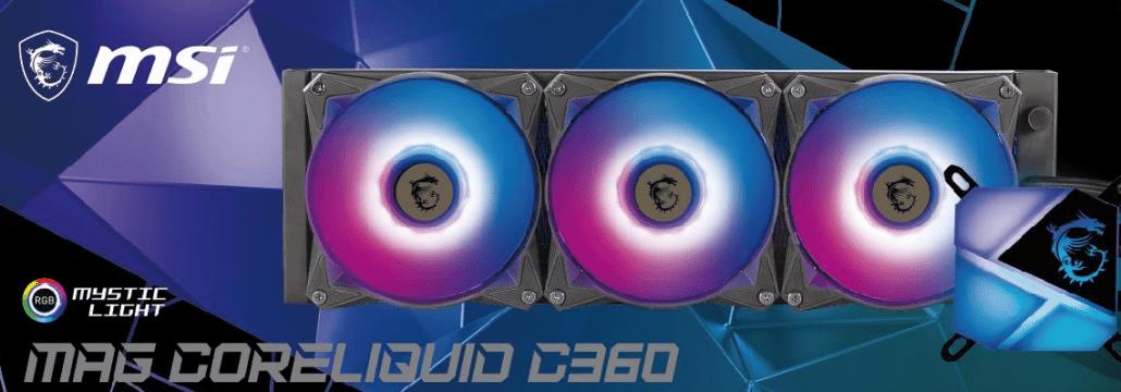 Жидкое охлаждение MSI MAG CORELIQUID C360 AIO