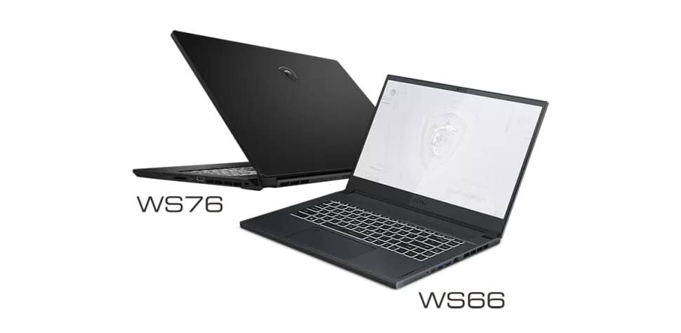 MSI WS76, WS66, WE76, WF76 WF66
