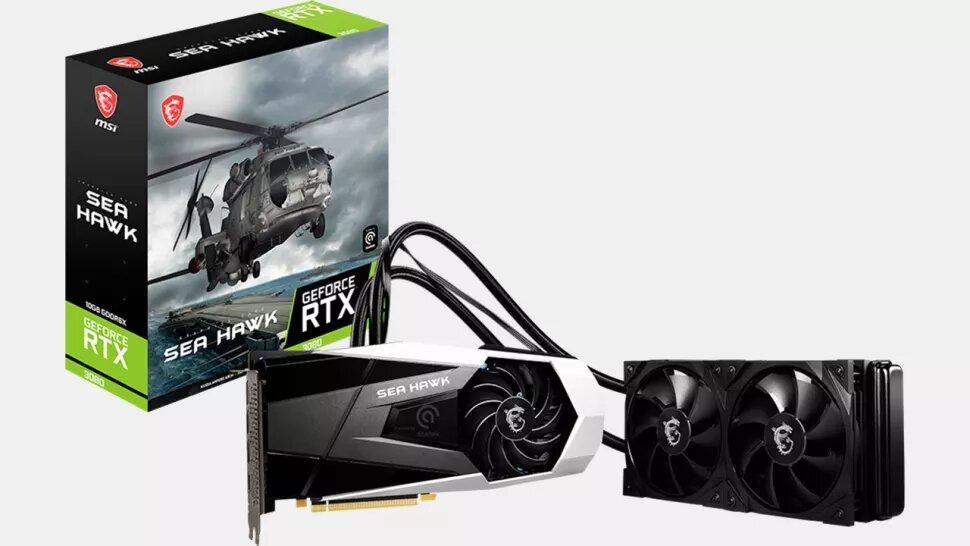 MSI выпускает GeForce RTX 3080 Sea Hawk X LHR с гибридным охлаждением