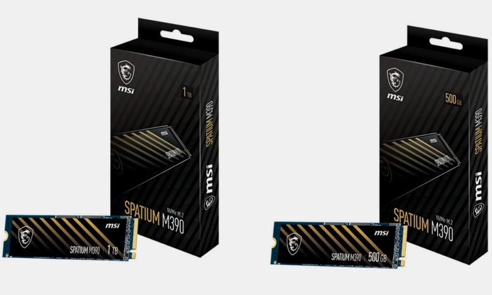 MSI представляет новый SSD Spatium M390