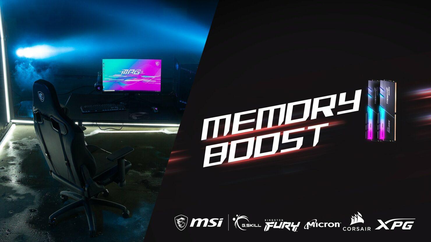 MSI обещает обеспечить максимальную частоту и совместимость для памяти DDR5 с технологией Memory Boost